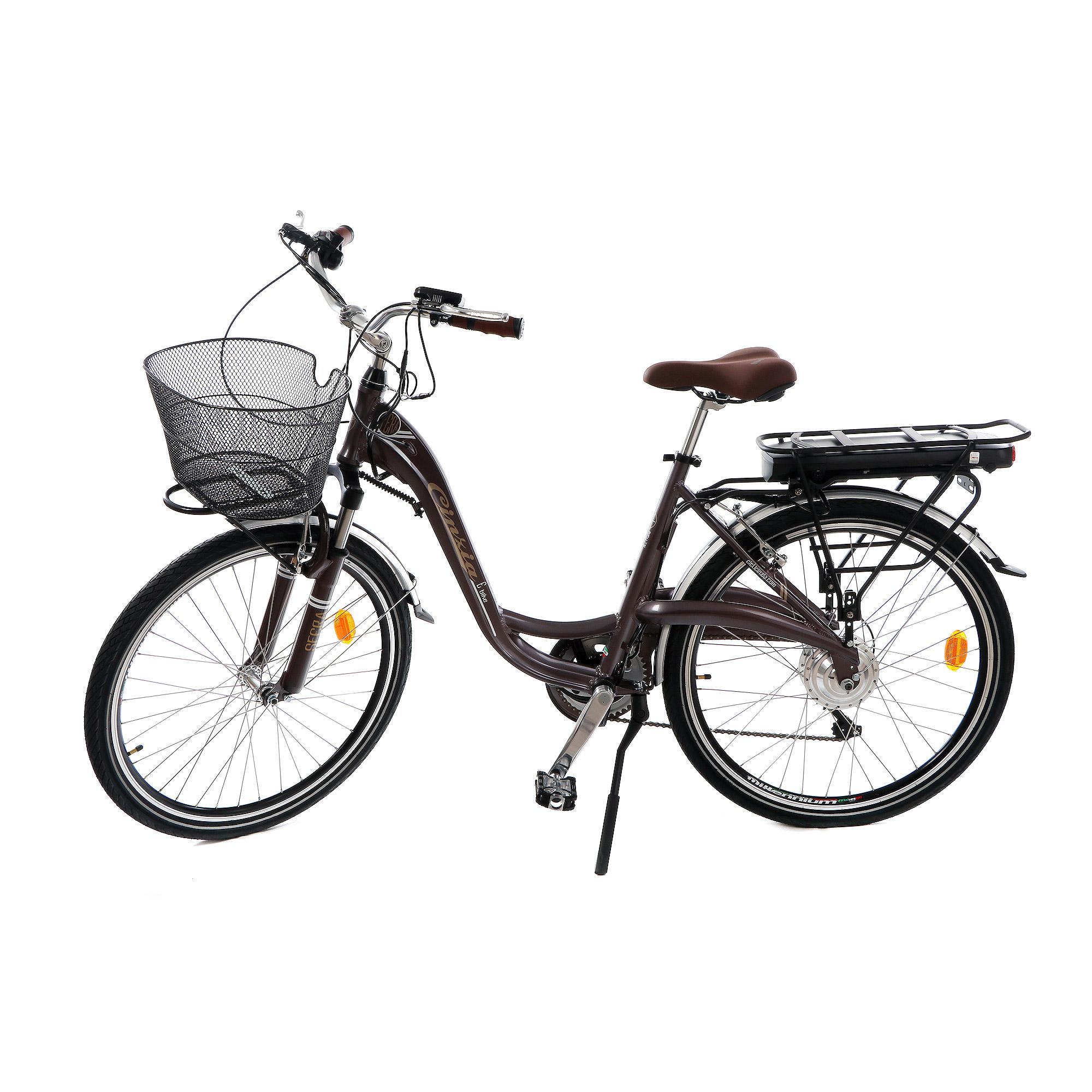 Купить Электровелосипед Cicli cinzia sfera lady 26 7 скоростей tobac, Италия