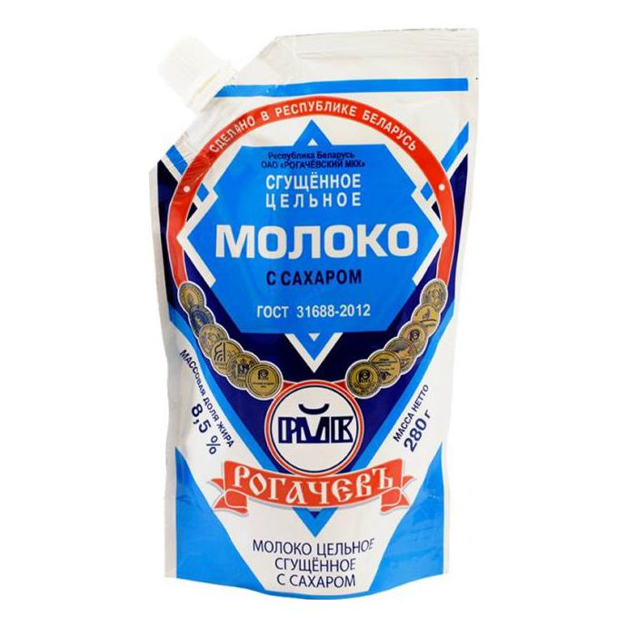 Молоко сгущенное Рогачевъ с сахаром 8,5% 280 г фото