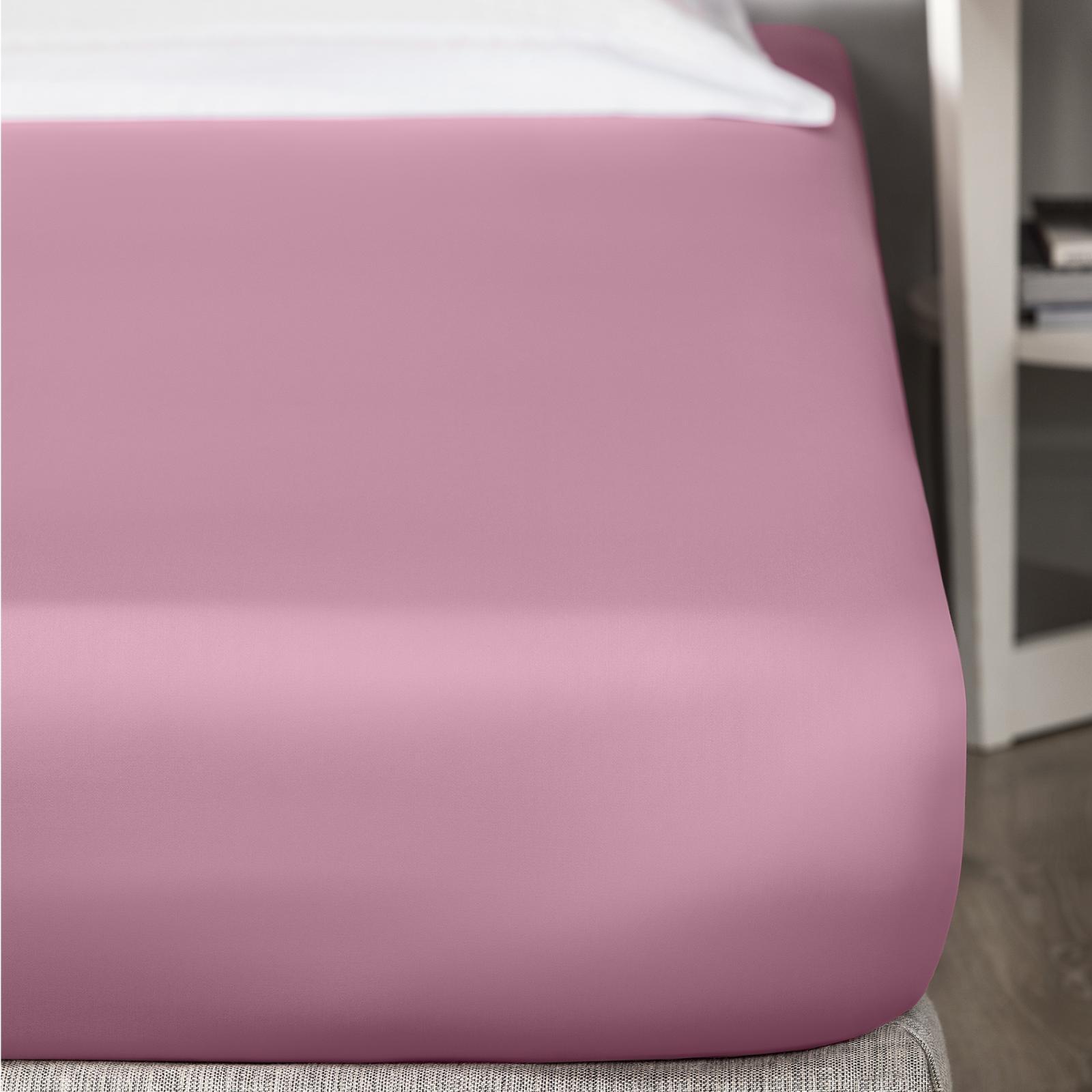 простыня тексдизайн на резинке цвет розовый Простыня на резинке Togas аквариус розовый 180х200+30