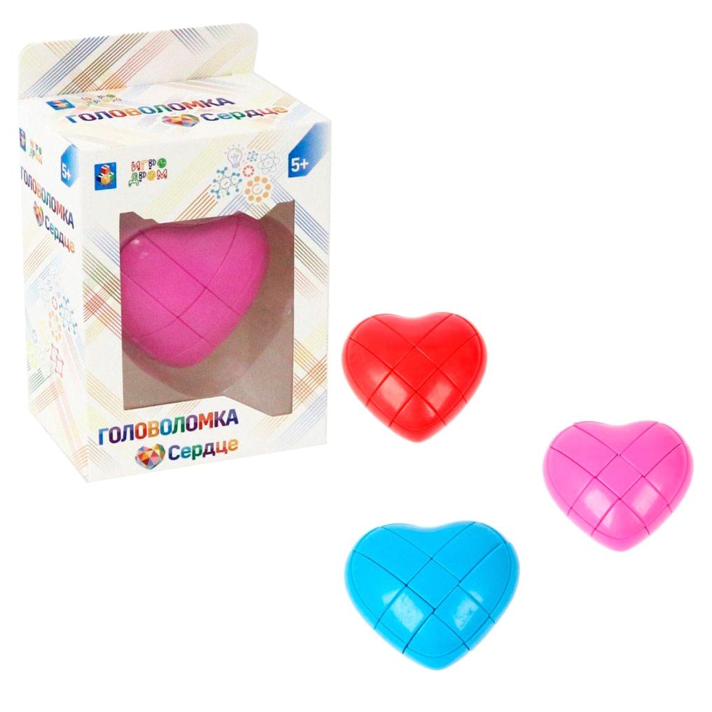 Головоломка 1Toy Сердце 9x7,5 см в ассортименте недорого