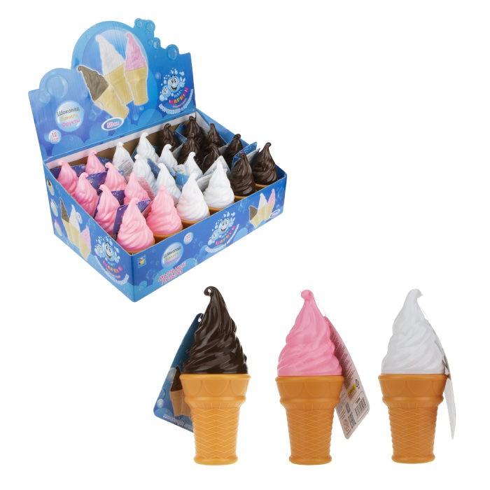 Пузыри мыльные 1toy мороженое рожок