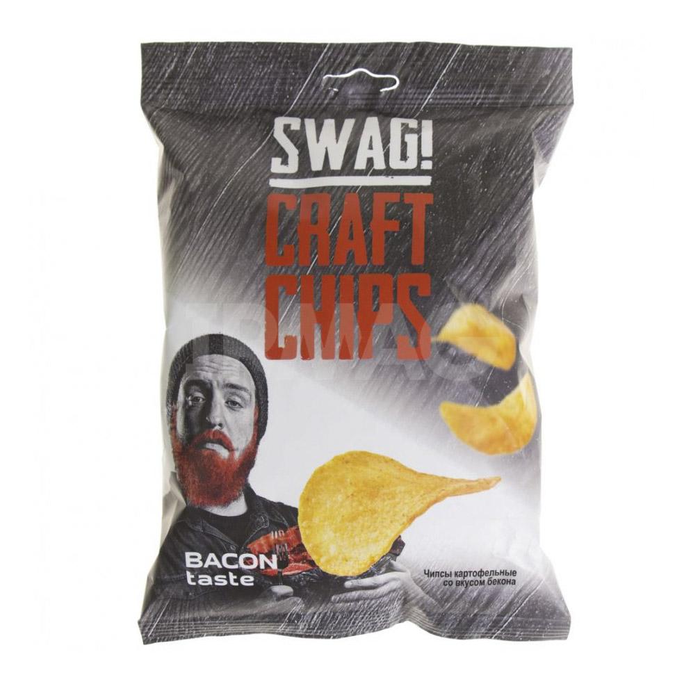 Фото - Чипсы картофельные SWAG! со вкусом Бекона 70 г чипсы картофельные swag со вкусом холодца и хрена 50 г