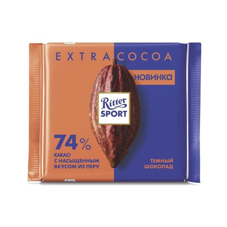 Шоколад Ritter Sport Темный с насыщенным вкусом из Перу 100 г шоколад maitre truffout erdbeer темный с помадной начинкой со вкусом клубники 50% 100 г