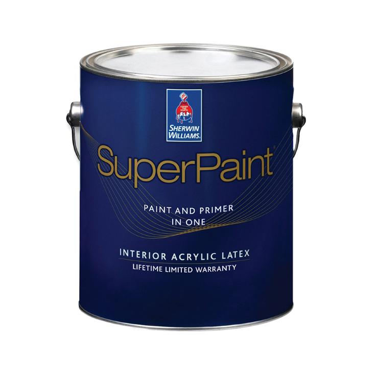 Фото - Краска Sherwin-Williams SuperPaint Interior Latex Flat Ultradeep 1 л эмаль sherwin williams all surface enamel latex gloss белая 3 8 л