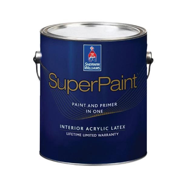 Фото - Краска Sherwin-Williams SuperPaint Interior Latex Flat 3,8 л эмаль sherwin williams all surface enamel latex gloss белая 3 8 л