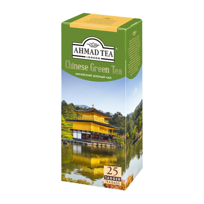 Чай Ahmad Tea Chinese Green зеленый 25 пакетиков