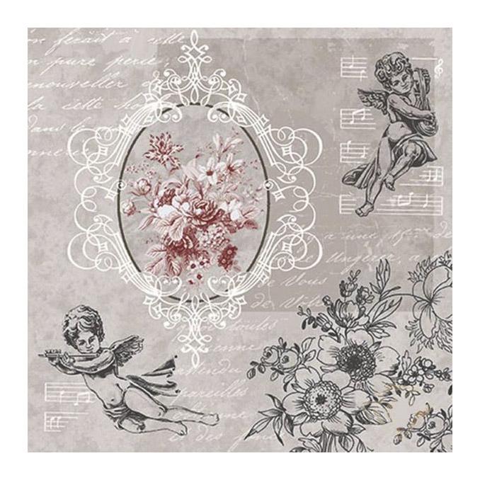 Салфетки для декупажа Paw Ангелы среди цветов трехслойные 33x33 см 20 шт