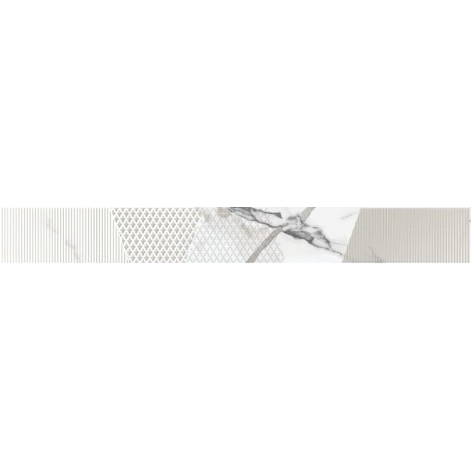 Бордюр Kerlife Arabescato Bianco 7,5x63 см