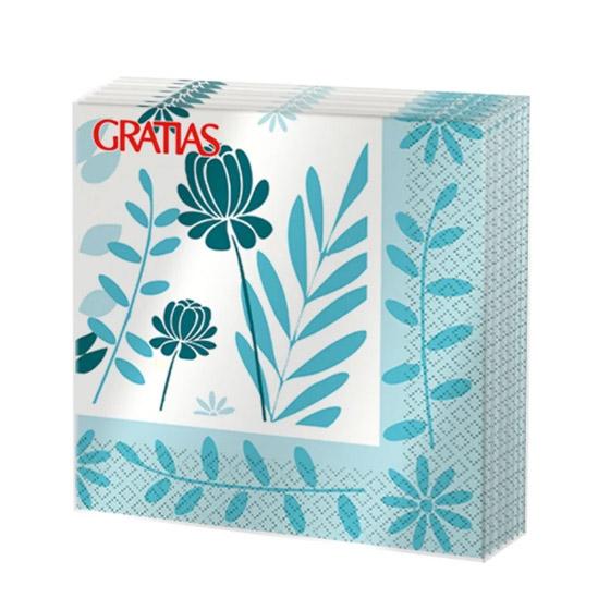 Салфетки бумажные Gratias Гербарий в рамке трехслойные 33x33 см 20 шт