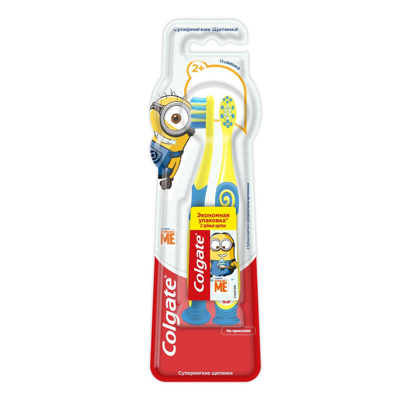 Зубная щетка Colgate Миньоны 2 шт зубная щетка colgate миньоны 2 синий
