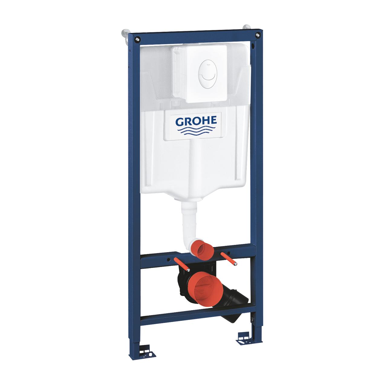 Купить Инсталляция Grohe rapid sl для подвесного унитаза с кнопкой, белый, перед капитальной стеной