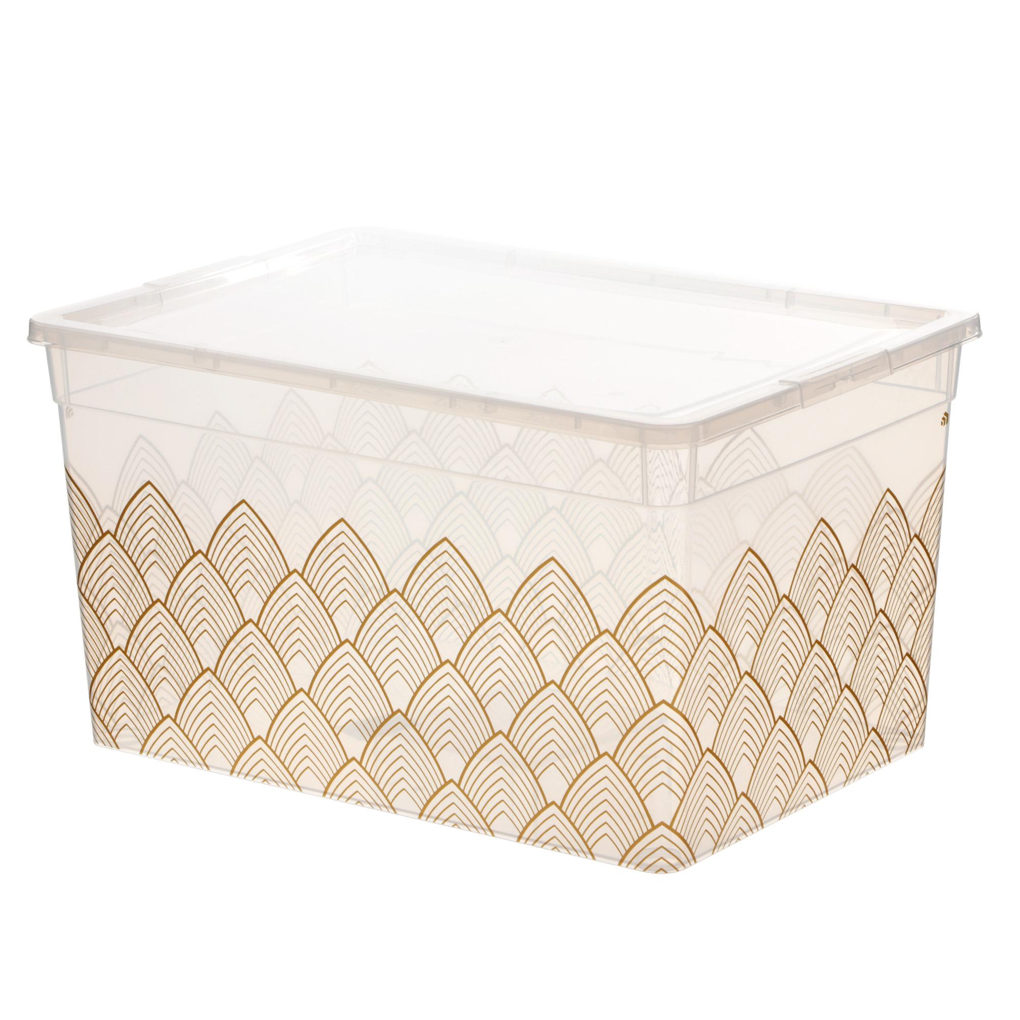 Коробка для хранения прозрачная с рисунком 16л Полимербыт фото
