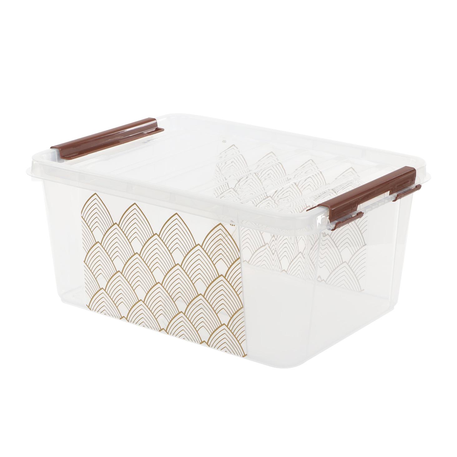 Ящикпрозрачный Полимербыт с рисунком 15л 410х295х183мм ящик для хранения полимербыт 15 л