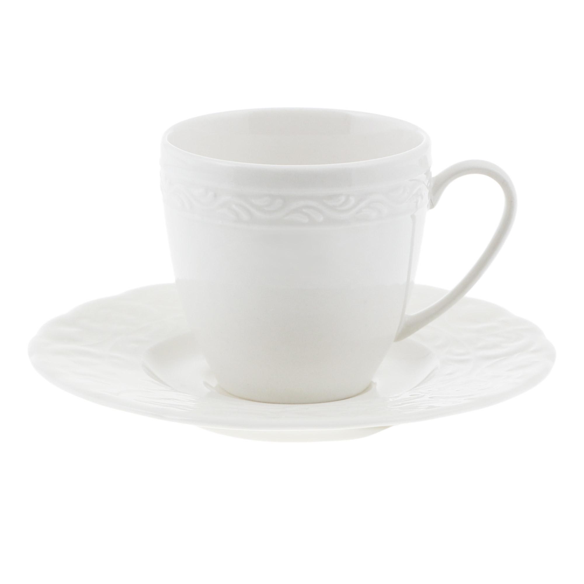 Чашка с блюдцем кофейная 100 мл Kutahya porselen Basak недекорированная