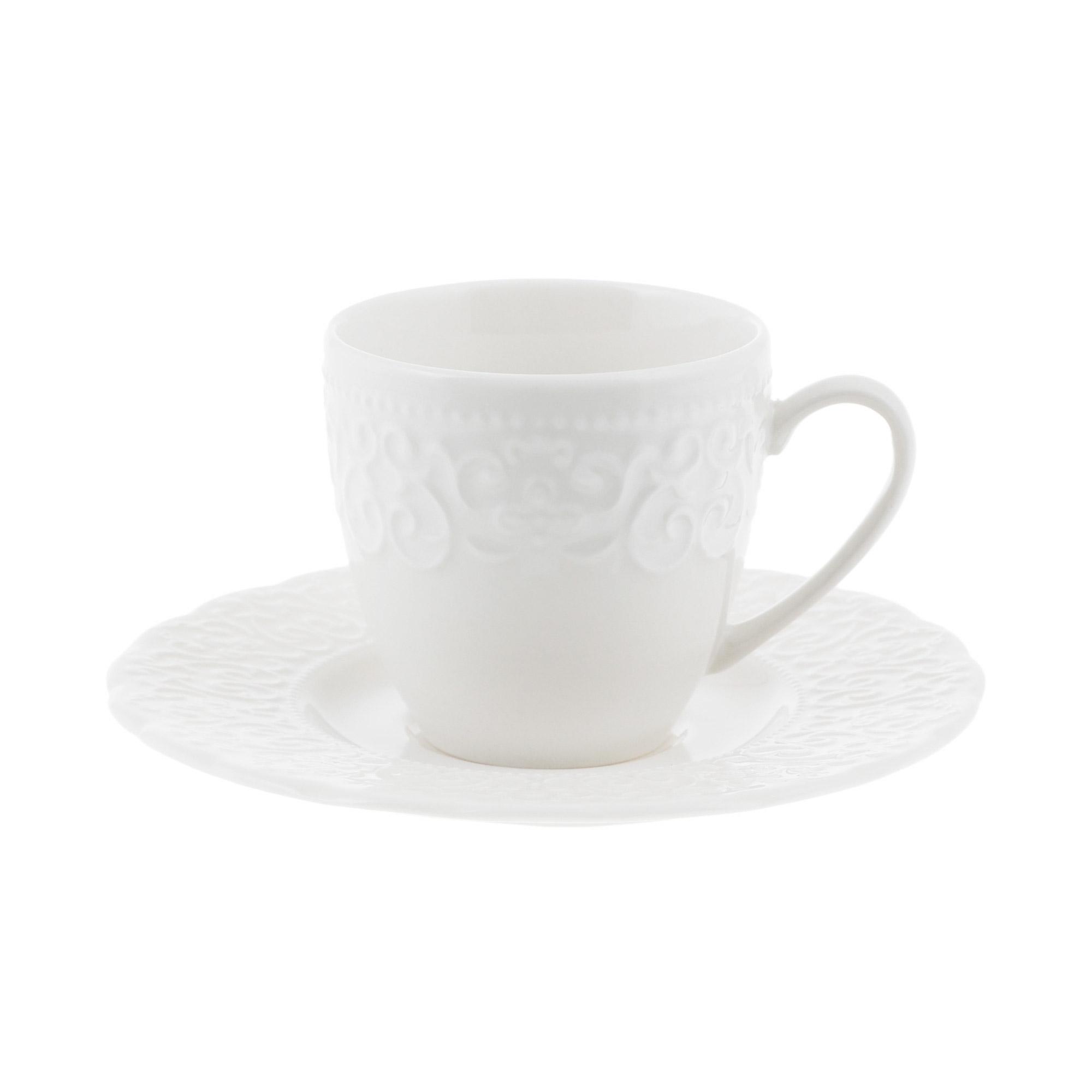 Чашка с блюдцем кофейная 100 мл Kutahya porselen Irem недекорированная
