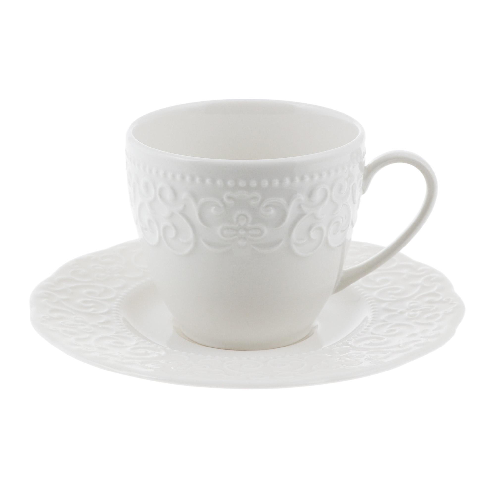 Чашка с блюдцем чайная 120мл Kutahya porselen Irem недекорированная