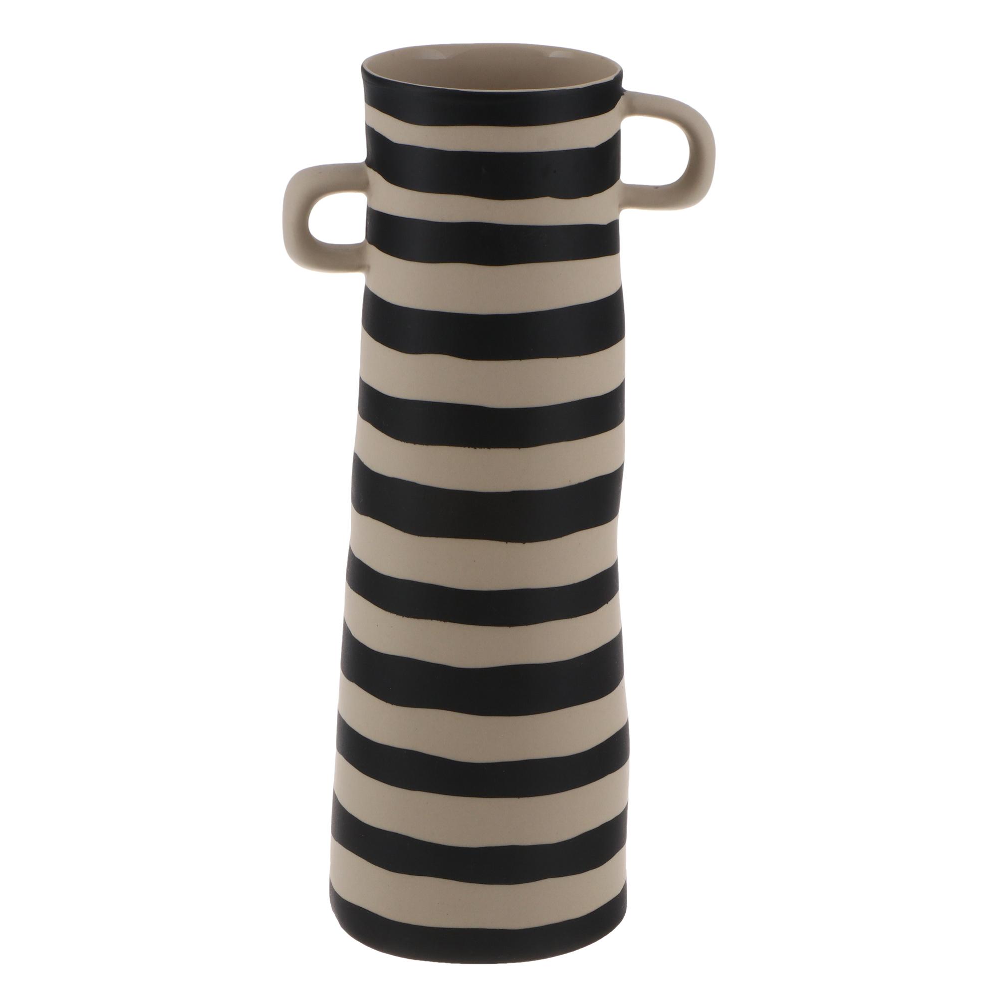 Фото - Ваза полосатая Asa selection 28 см черно-белая ваза asa selection carve серо бежевая 16 см
