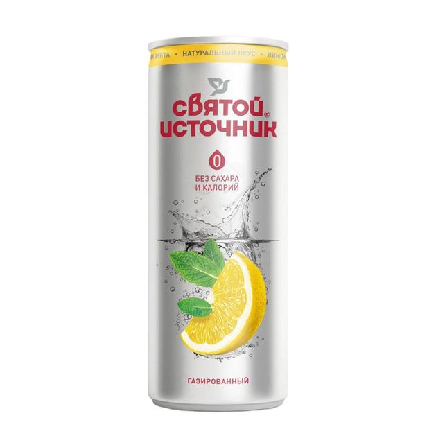 Вода питьевая Святой Источник Лимон и мята ароматизированная 033 л.