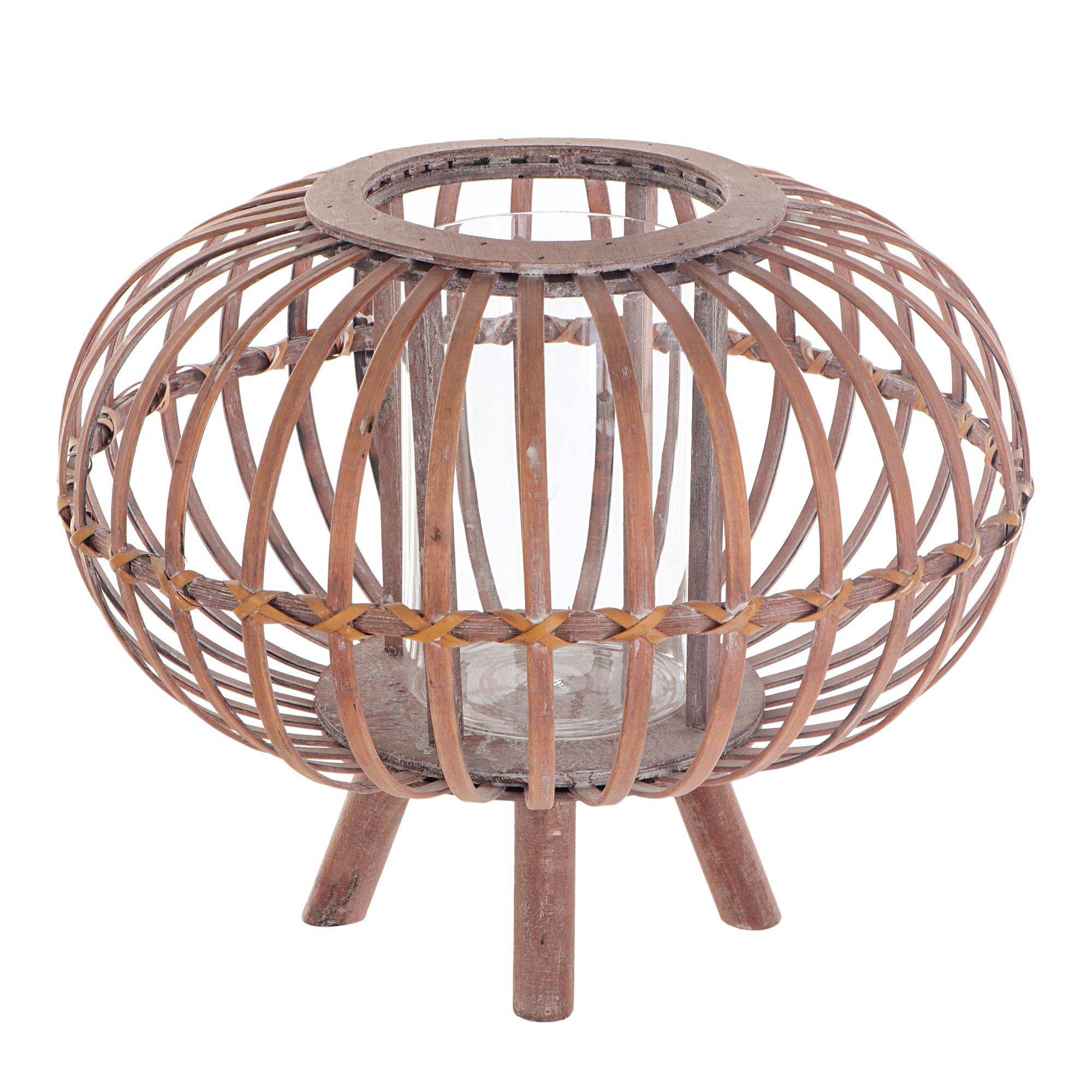 Купить Фонарь на ножках декоративный Kaemingk 38х30 см, фонарь