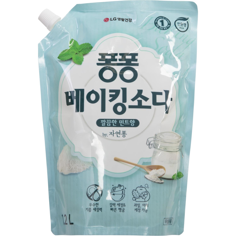 Средство для мытья посуды LG Household & Health Care Natural Pong С пищевой содой 1200 мл