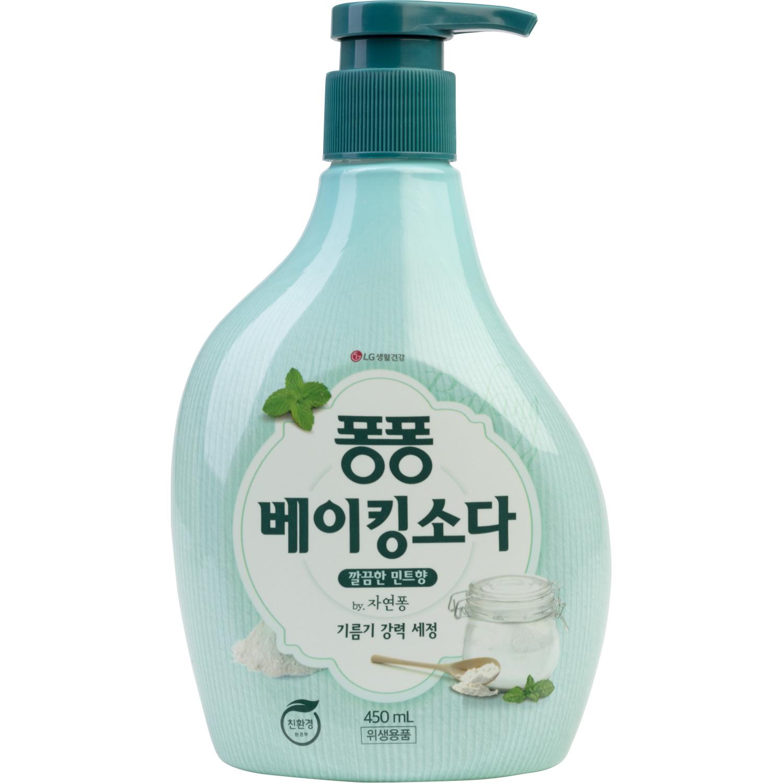 Фото - Средство для мытья посуды LG Household & Health Care Natural Pong С пищевой содой 450 мл sano jet универсальный очиститель различных поверхностей с пищевой содой 750 мл спрей