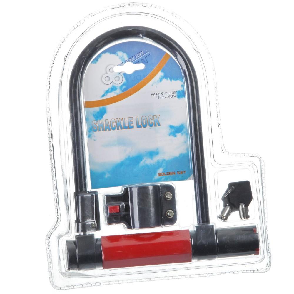 Купить Замок для вело D-образный, с ключом диам.180х245мм, Stg, замок, Китай