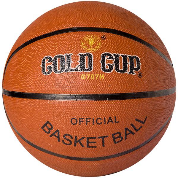 Фото - Мяч баскетбольный, №7 резин., коричн., Gold Cup, арт. G707H gratwest футбольный мяч official gold cup размер 5 бело красный