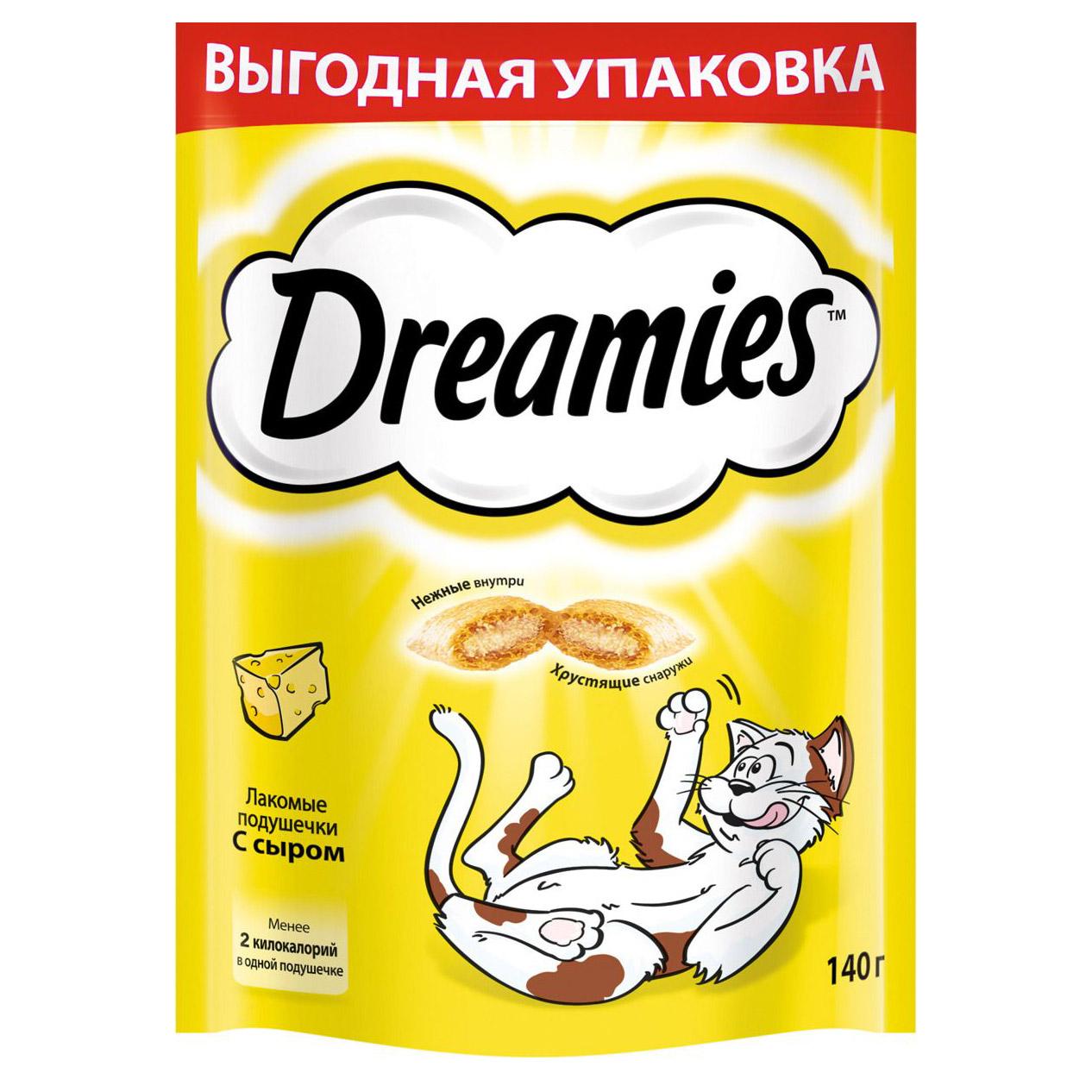 Лакомство для кошек Dreamies с сыром 140 г.