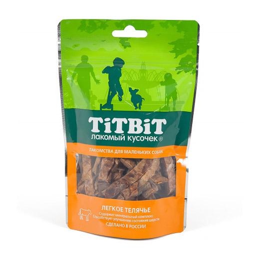 Лакомство для собак Titbit Легкое телячье для мелких пород 50 г фото