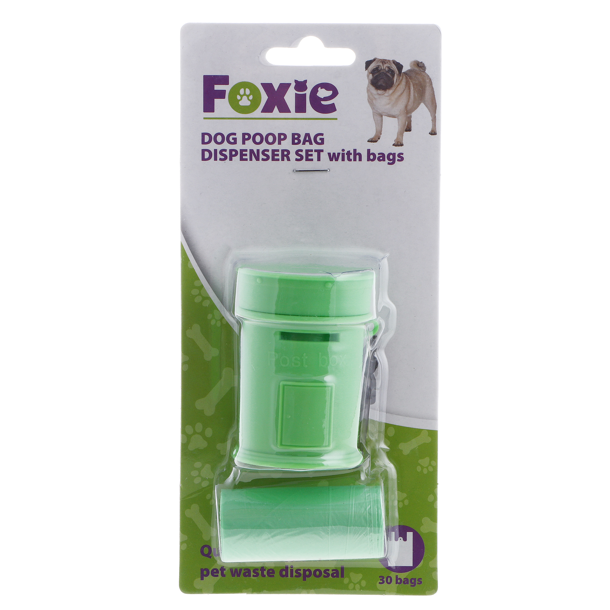Набор для улицы Major foxie футляр+сменные пакеты синий 2 руллона х 15шт.