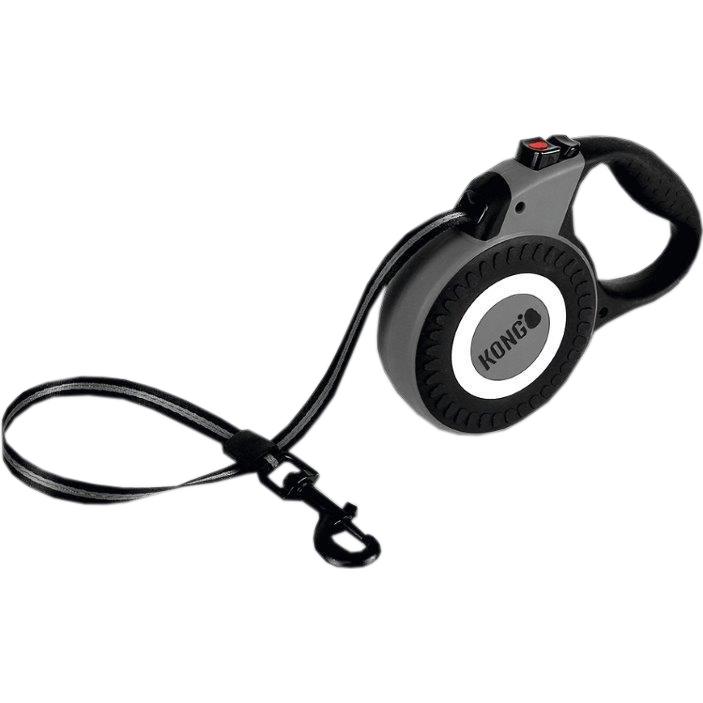 Рулетка для собак KONG Reflect L до 50 кг 5 м Серый.