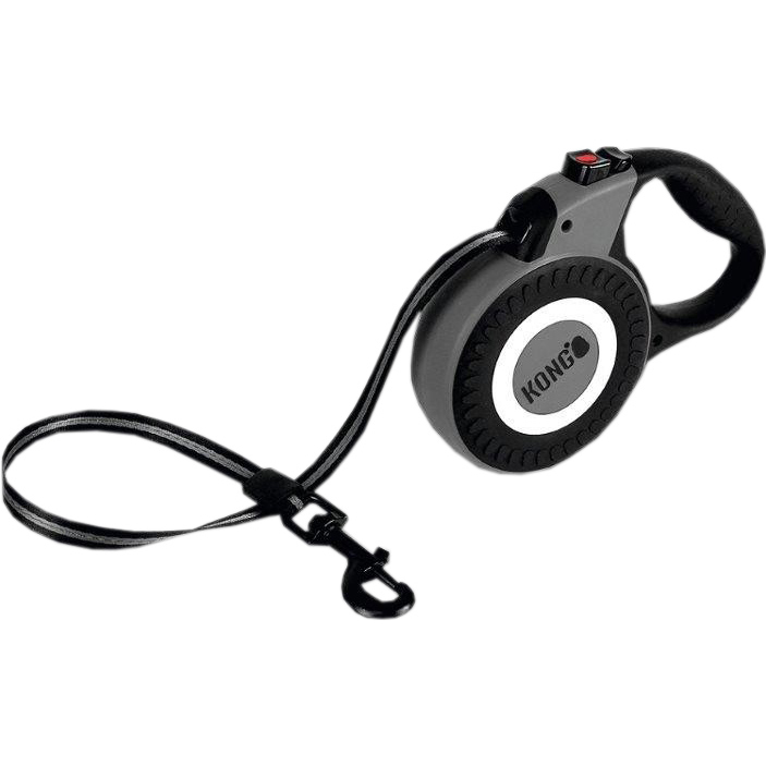 Рулетка для собак KONG Reflect M до 30 кг 5 м Серый фото