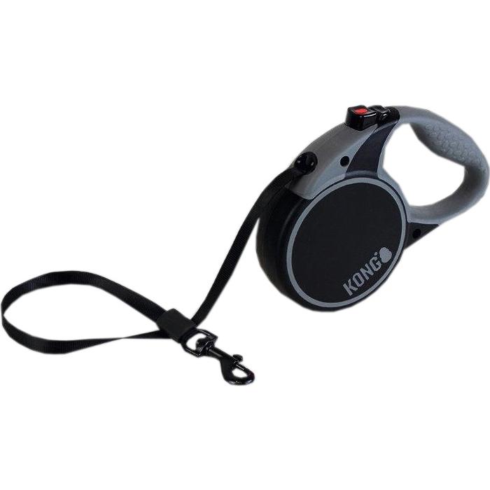 Рулетка для собак KONG Terrain M до 30 кг 5 м Черный рулетка для собак kong reflect m до 30 кг 5 м серый