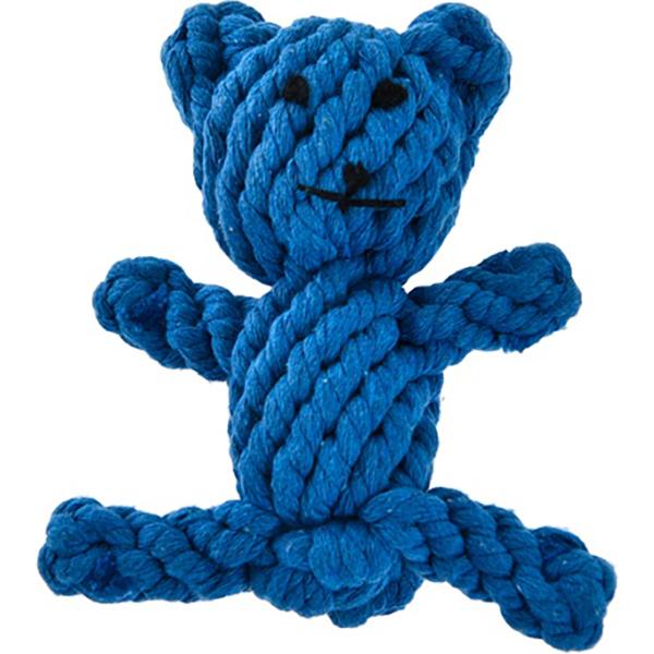 Игрушка для собак MAJOR Медвежонок плетеный из каната 13 см.
