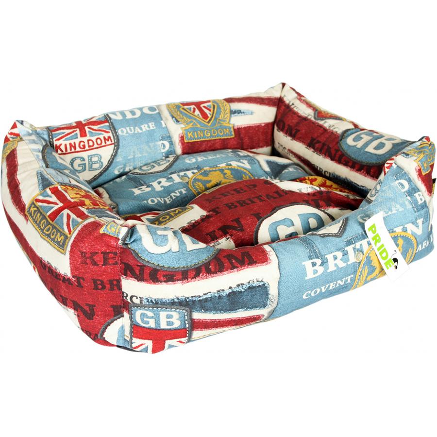 Лежак для собак PRIDE Винтаж Британия 60x50x18 см.