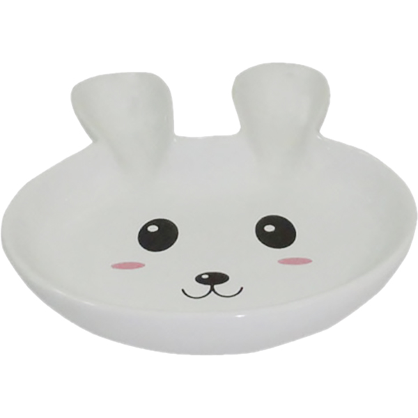 Купить Миска для грызунов Foxie Rabbit белая 80 мл, кормушка, белый, керамика