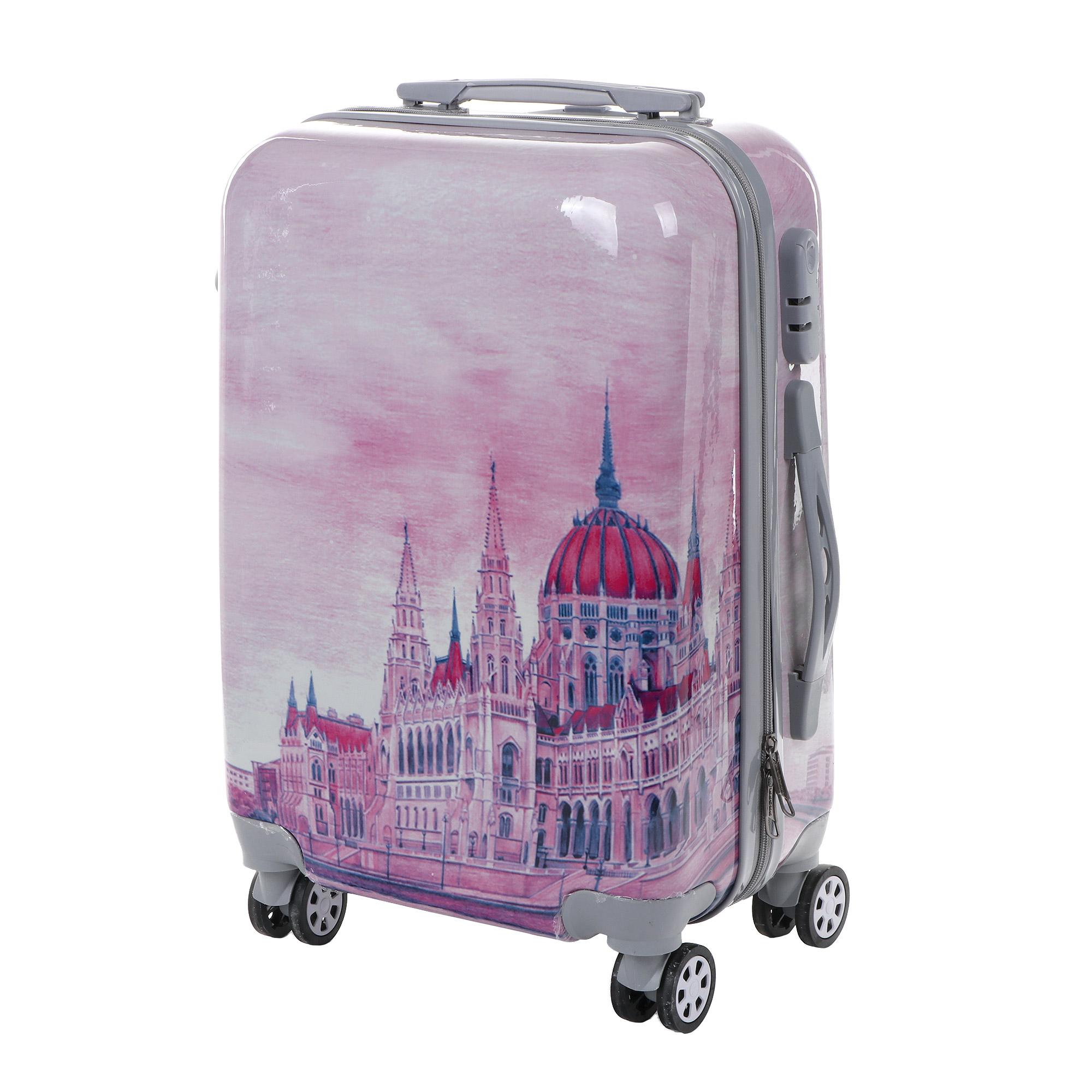 Чемодан proffi travel panorama 20 пластиковый малый 54x34х22см акварель чемодан proffi travel proffi travel mp002xu02him
