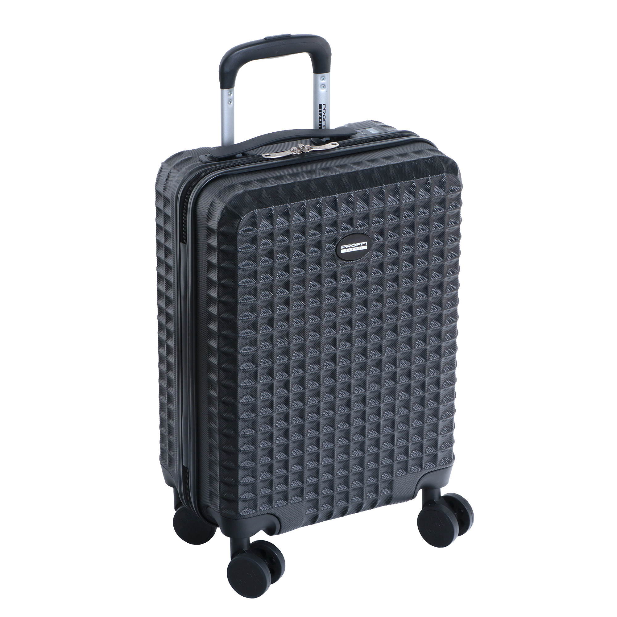 Фото - Чемодан proffi travel tour quattro smart 20 пластиковый малый 56х36х21 черный c весами+usb в ручке чемодан proffi kingsize xl 110 л черный