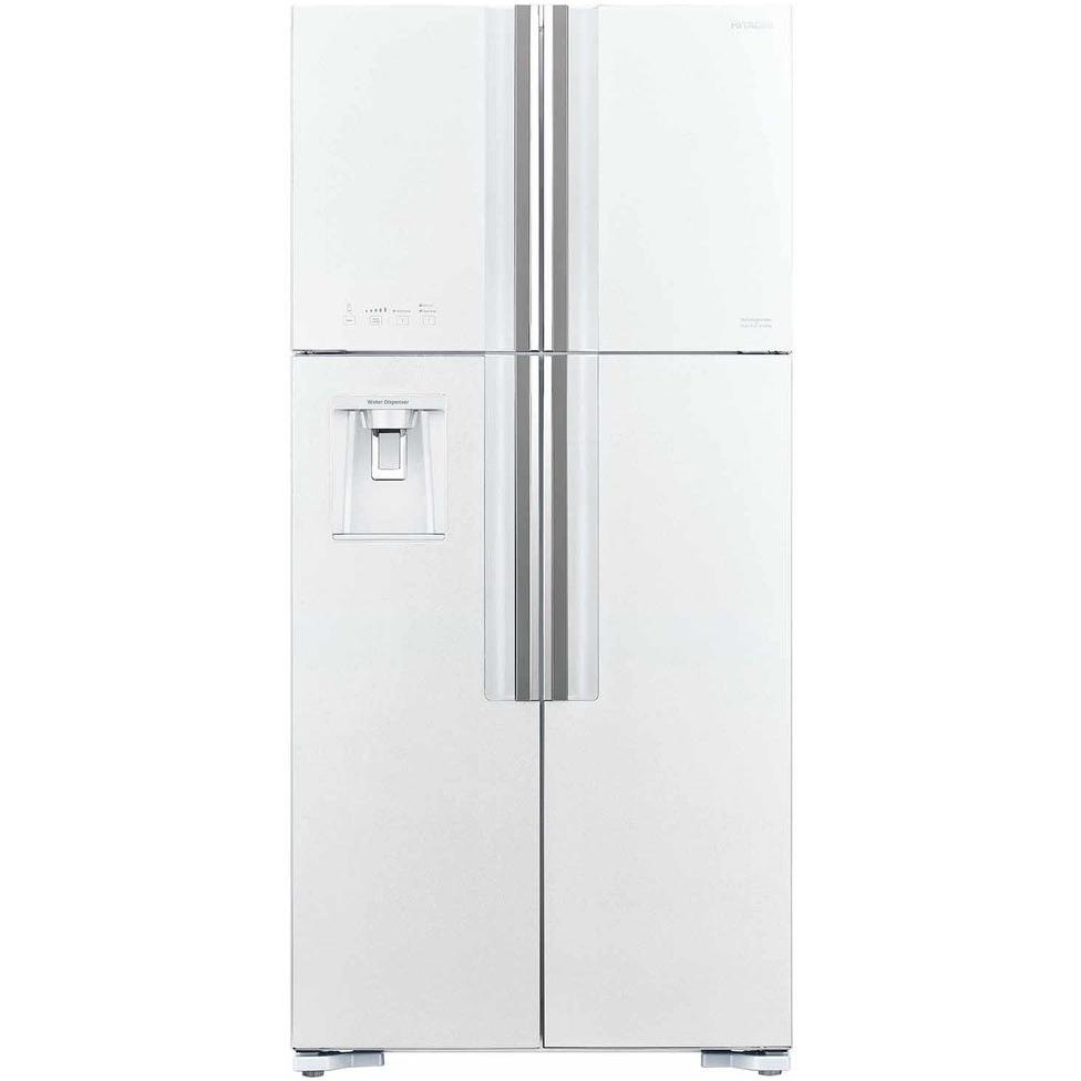 Холодильник Hitachi R-W 662 PU7 GPW двухкамерный холодильник hitachi r v 662 pu7 bsl серебристый бриллиант