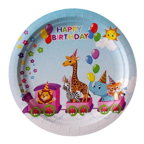 Тарелки бумажные Зоопарк 18 см 6 шт тарелки бумажные paterra слоники 18 см