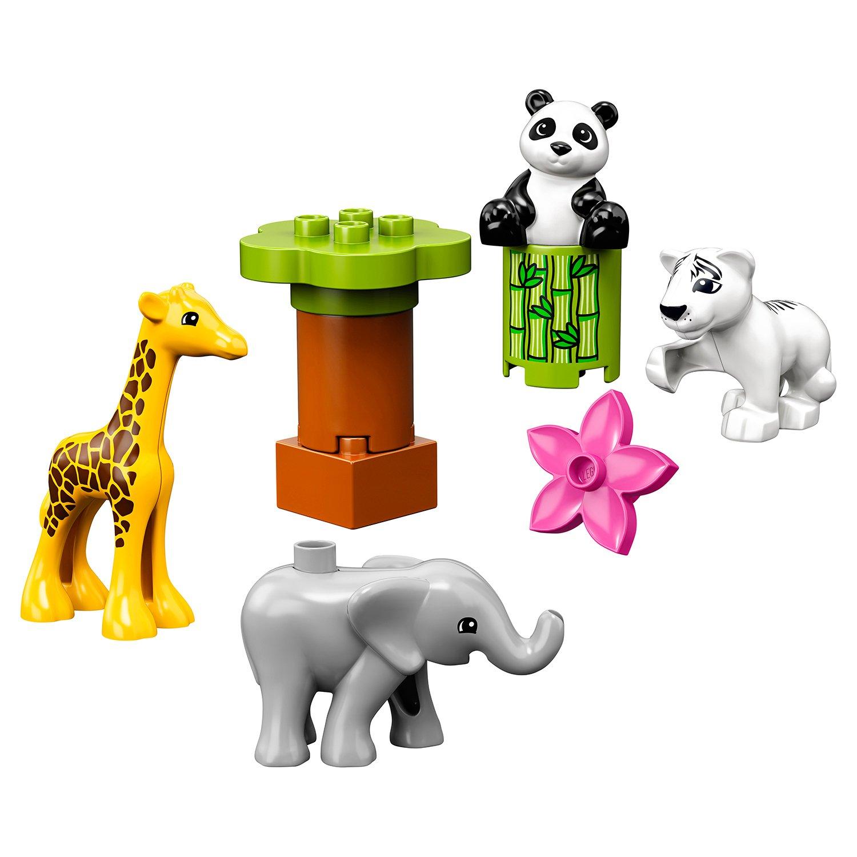 Фото - Конструктор LEGO Duplo Town Детишки животных 10904 конструктор lego duplo my first поезд для животных 10955