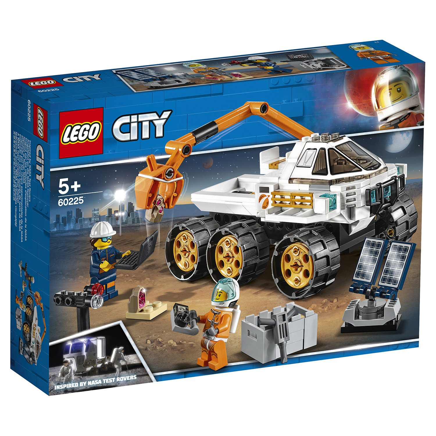 Конструктор LEGO City Space Port Тест-драйв вездехода 60225