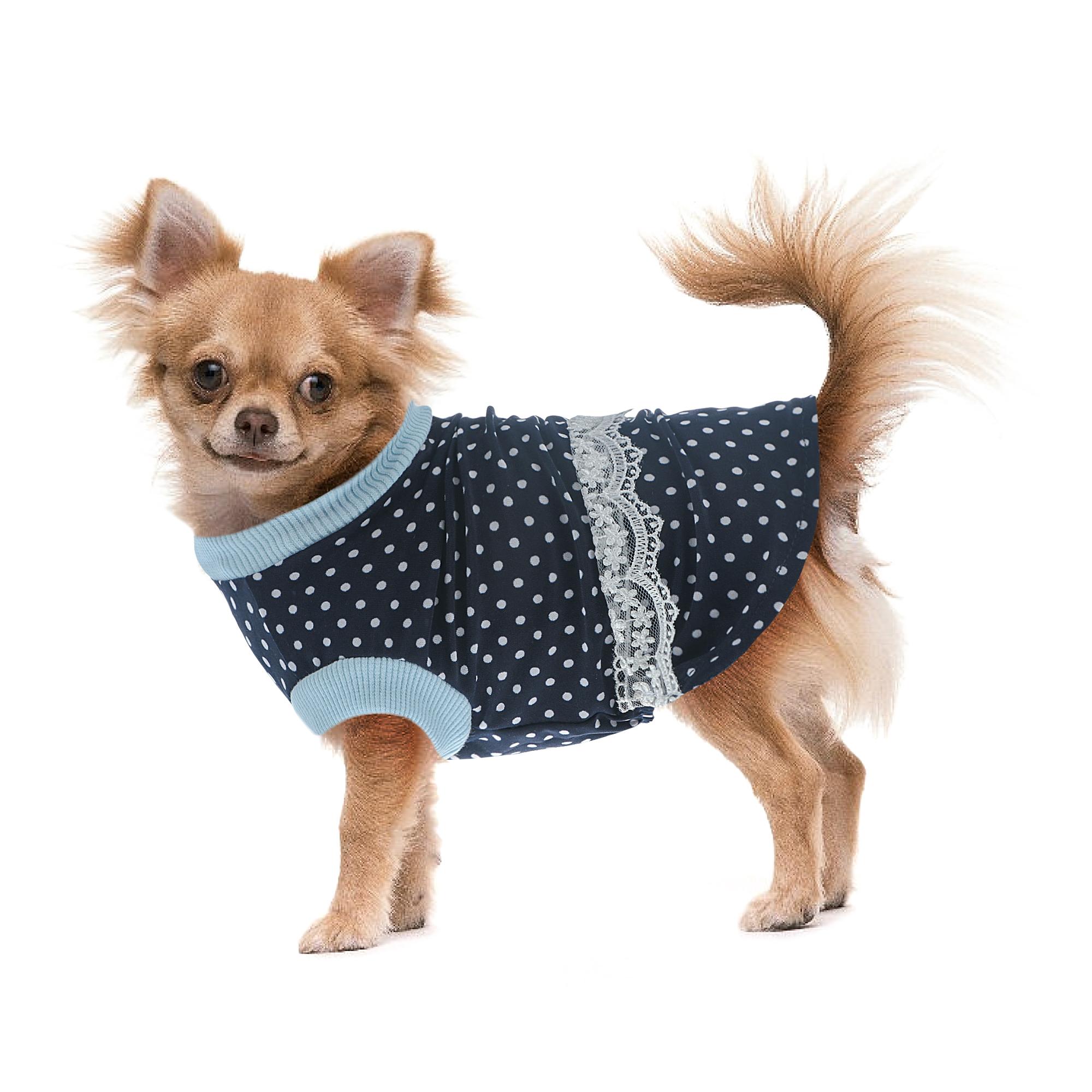 Платье для собак Happy Puppy шатель синий-4 32см платье для собак happy puppy шатель синий 3 28см