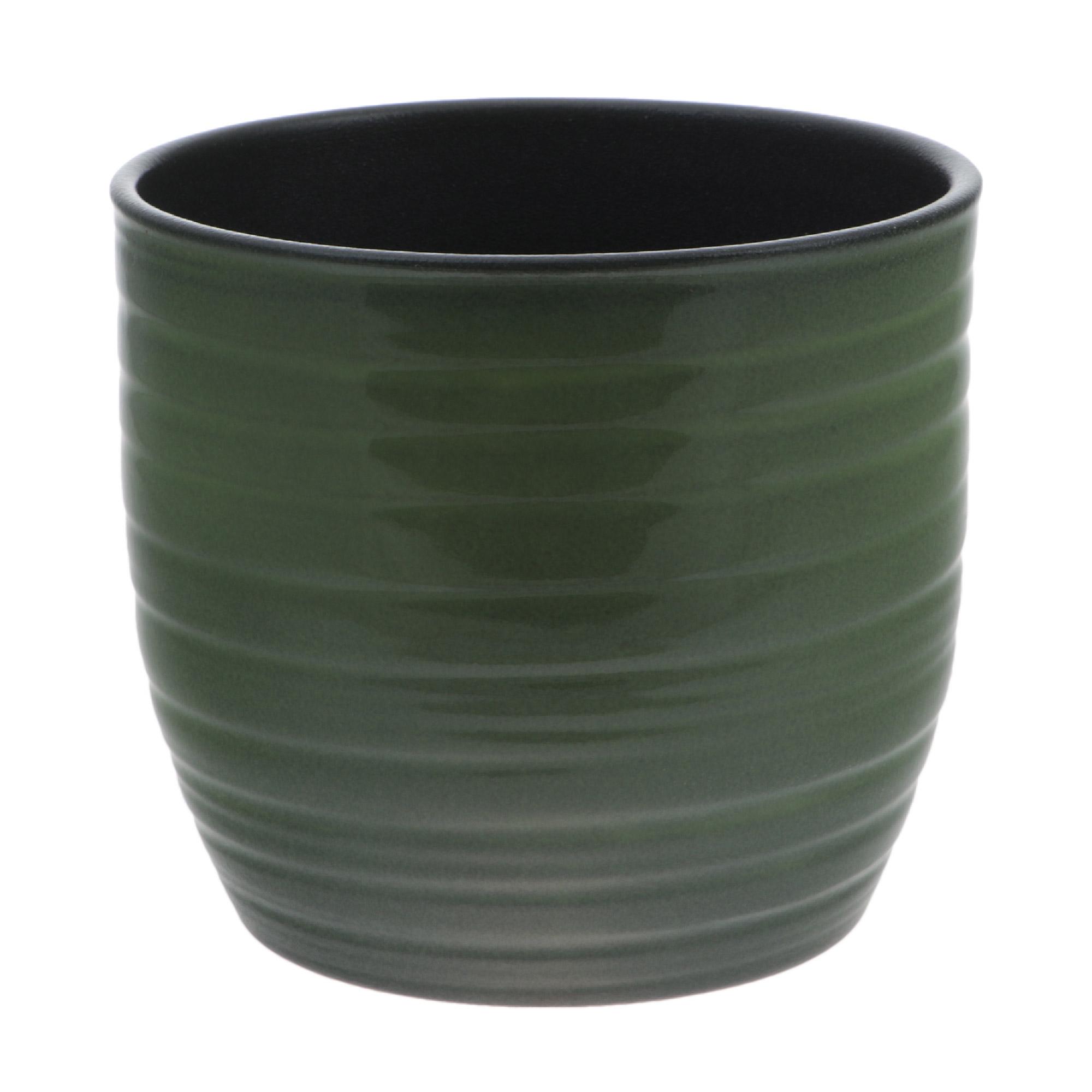 Кашпо Soendgen Bergamo D16см глянец зеленый недорого