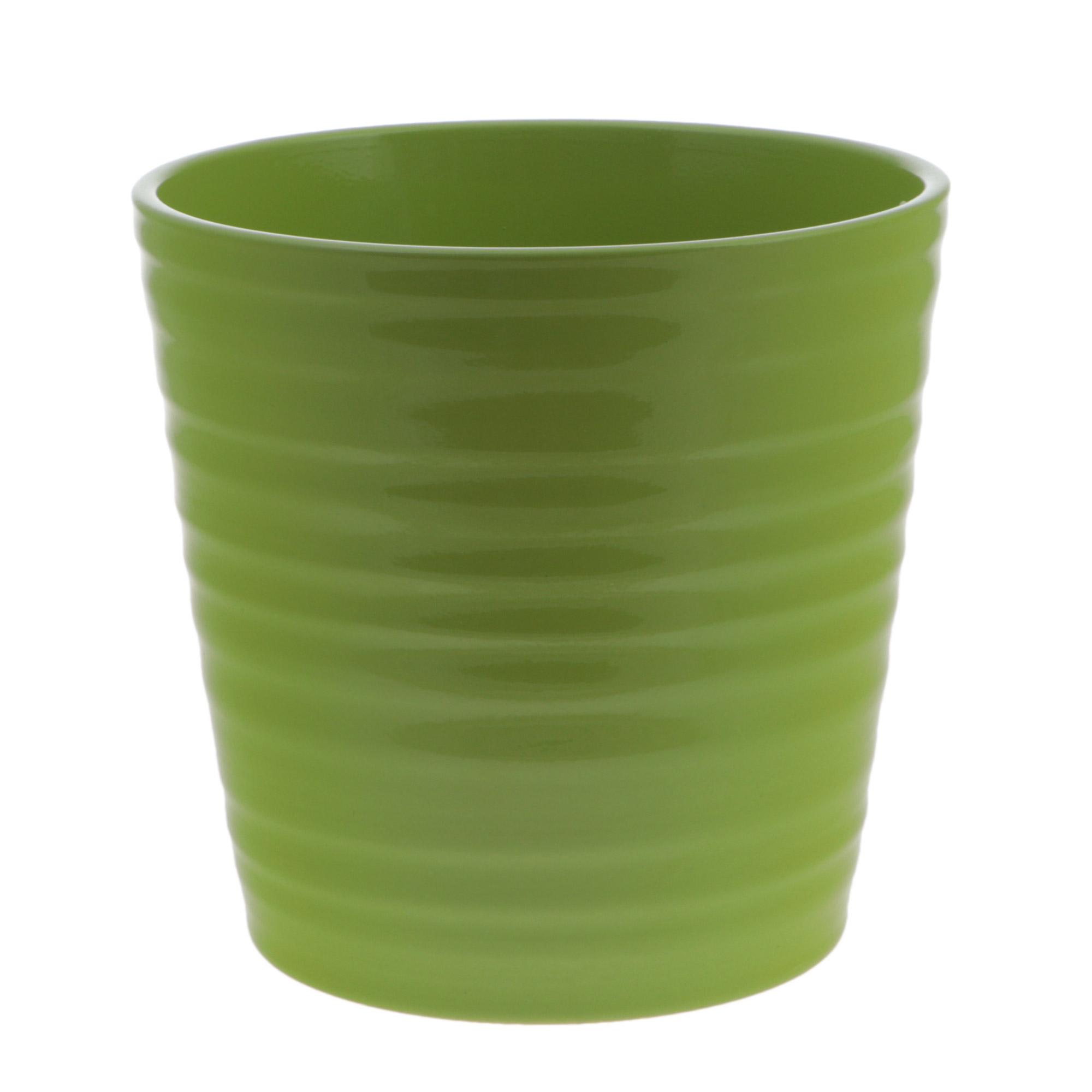 Кашпо Soendgen canberra d16 глянец зеленый недорого