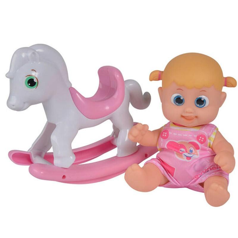 Кукла Bouncin' Babies Бони 16 см с лошадкой-качалкой bouncin babies бони с кроваткой разноцветный