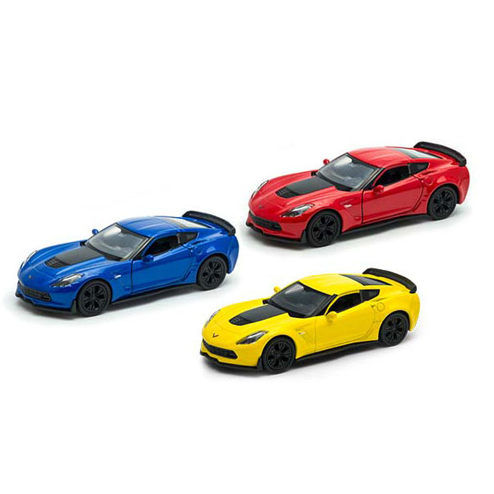 Купить Модель машины Welly Chevrolet Corvet Z06 1:38, Китай, в ассортименте, пластик, металл, Техника авто- мото- авиа