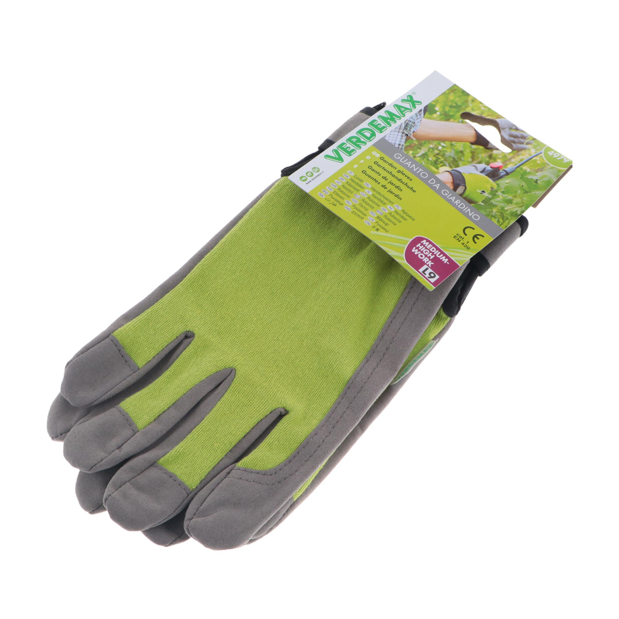 Фото - Перчатки садовые Verdemax golf серо-зеленые l перчатки садовые verdemax серо зеленые m