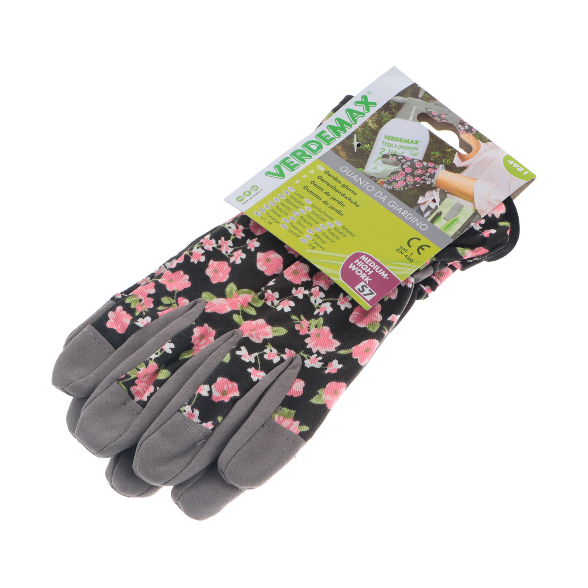 Фото - Перчатки садовые Verdemax женские цветочные s перчатки садовые verdemax серо зеленые m