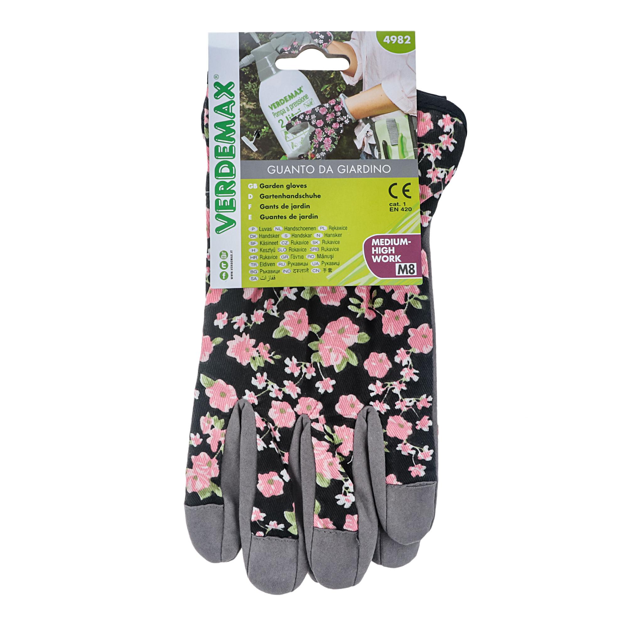 Фото - Перчатки садовые женские цветочные m Verdemax перчатки садовые verdemax серо зеленые m